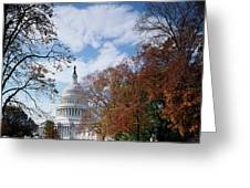 Usa, Washington Dc, View Of Capitol Greeting Card