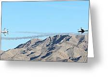 Usaf Thunderbirds Precision Flying Two Greeting Card