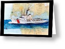 Uscg Alert Coast Guard Chart Map Art Peek Greeting Card