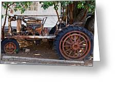 Used Tractor Greeting Card