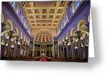 Usf Saint Ignatius Church In San Francisco Greeting Card