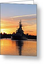 Uss Battleship Greeting Card