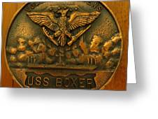 Uss Boxer Plaque Greeting Card