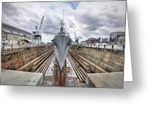 Uss Cassin Young Greeting Card