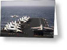 Uss Enterprise Conducts Flight Greeting Card by Stocktrek Images