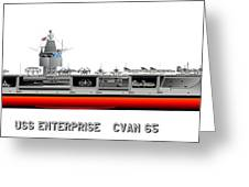 Uss Enterprise Cvn 65 1969 Greeting Card
