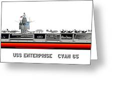 Uss Enterprise Cvn 65 1971-73 Greeting Card