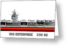Uss Enterprise Cvn 65 1975- 1981 Greeting Card