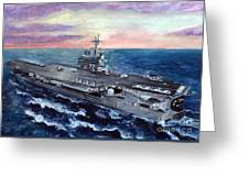 Uss George H.w. Bush Greeting Card by Sarah Howland-Ludwig
