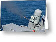 Uss Harry S. Truman Tests The Close-in Greeting Card