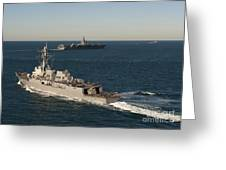 Uss James E. Williams Is Underway Greeting Card
