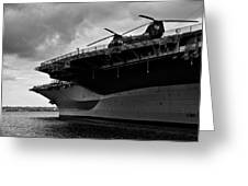 Uss Midway Helicopter Greeting Card