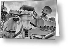 Uss Missouri- Radar System Greeting Card