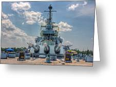 Uss North Carolina Greeting Card