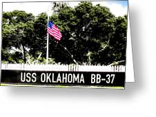 Uss Oklahoma Bb-37 Greeting Card by Lisa Cortez