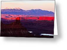 Utah Desert Sunset Panorama Greeting Card