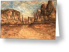 Utah Red Rocks - Landscape Art Greeting Card
