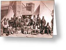 Ute Indians Denver Exposition Greeting Card