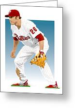 Utley In The Ready Greeting Card