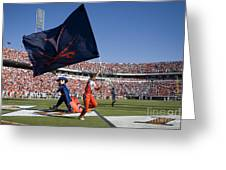 Uva Virginia Cavaliers Football Touchdown Celebration Greeting Card