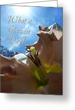 V Glorious Day Words Greeting Card