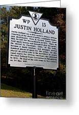 Va-wp13 Justin Holland Greeting Card