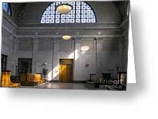 Vacant Railroad Station Greeting Card