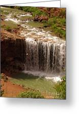 Vacation At Lower Navajo Falls Greeting Card