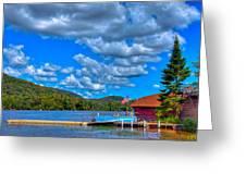Vacationing On Big Moose Lake Greeting Card