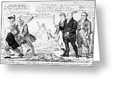 Vaccination Cartoon, 1808 Greeting Card