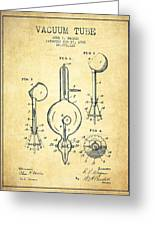 Vacuum Tube Patent From 1905 - Vintage Greeting Card