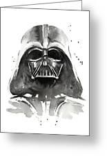 Darth Vader Watercolor Greeting Card