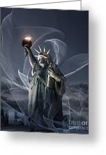 Light Of Liberty Greeting Card