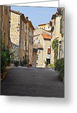 Valbonne - French Village Of Contradictions Greeting Card by Christine Till