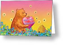 Valentine Baby Bear Greeting Card