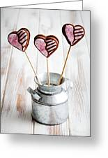 Valentine Cookie Pops Greeting Card