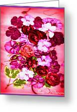 Valentine Flowers For You Greeting Card