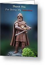 Valentine Thank You From Viking Bear Greeting Card
