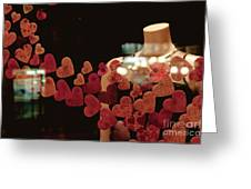 Valentine Window Display Greeting Card