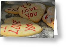 Valentine Wishes And Cookies Greeting Card