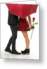 Valentines Couple Greeting Card by Carlos Caetano