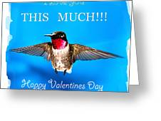 Valentines Day I Love You This Much Greeting Card