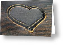 Valentine's Day - Sand Heart Greeting Card