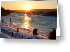 Valentines Day Snowstorm Sunset Greeting Card