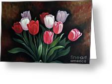Valentine's Day Tulips Greeting Card