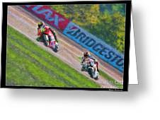 Valentino Rossi Leads Marco Simoncelli Greeting Card