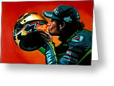Valentino Rossi Portrait Greeting Card by Paul Meijering