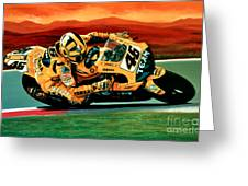 Valentino Rossi The Doctor Greeting Card by Paul Meijering