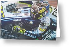 Valentino Rossi - The Doctor Greeting Card