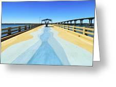 Valero Beach Fishing Pier Greeting Card